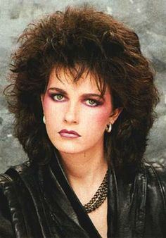 1980's hair & makeup - always, heavy on the blush...