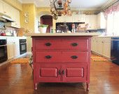 "1920's Vintage Repurposed Kitchen Island ""Eloise"""