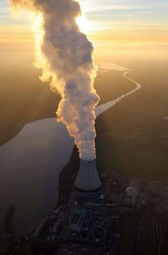 Nuclear power plants Isar 1 and Isar 2 (by Aerial Photography) Nuclear Energy, Nuclear Power, Nuclear Bomb, Champs, Energy Conservation, Industrial Photography, Atomic Age, Environmental Science, The Real World