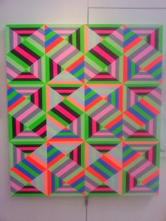 Hi im Carl cashman, a UK based artist. I love geometry and my main influences are a well spent youth dancing in disused warehouses and playing pixelated computer games. World Best Photos, Op Art, Surface Pattern, Textures Patterns, Geometric Shapes, Geometry, Neon, Quilts, Contemporary