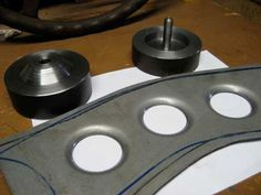 Dimple Die by rustybucket -- Homemade dimple die constructed from surplus round bar stock and a bolt. http://www.homemadetools.net/homemade-dimple-die-6