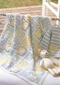 Crochet baby afghan patterns teddy bears 54 ideas for 2019 Baby Afghan Patterns, Crochet Blanket Patterns, Baby Blanket Crochet, Crochet Blankets, Baby Blankets, Crochet Afghans, Baby Afghans, Free Crochet, Bear Blanket