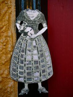 Halloween Headless Ghost Paper Doll Witch - Halloween Decoration, Halloween Ornament or Keepsake - Vintage Style. $10.00, via Etsy.
