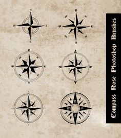 Compass Rose Photoshop Brushes by ~sdwhaven on deviantART