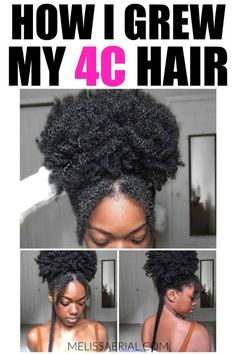 Natural Hair Growth Discover the best hair care treatment for your hair. Your natural hair can be amazing hair and grow at a fast rate but only if you know how to care for it properly. Learn natural hair growth tips for African Americans to start Cabelo Natural 4c, Cabello Afro Natural, Natural Hair Updo, Natural Hair Styles, Natural Beauty, Natural African Hair, African American Natural Hairstyles, Hairstyles For Natural Hair, Black Natural Hair Care