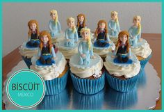 Frozen Cupcakes - Cake by BISCÜIT Mexico