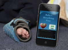 New invention to calm terrified new parents. The Owlet Baby Monitor. If the infant stops breathing or has a significant change in heart rate, the sock monitor will notify parents by alerting them on their smart phone.