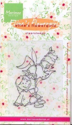 Clear stampset Eline's Flowergirlz EC0126 - Clear Stamps Eline - Stempel Techniek Hobbyshop Nellie Snellen