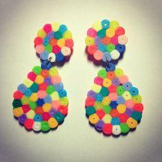 Earrings hama beads by ineslarcher