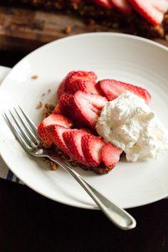 strawberry-pecan tart for the fresh exchange blog