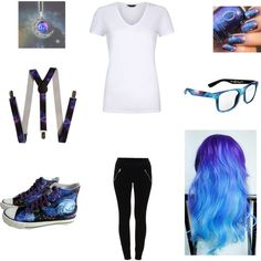 Galaxy Nerd by nerdsrus on Polyvore featuring VILA and HVBAO