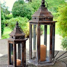 Adobe Small Florence Garden Lantern