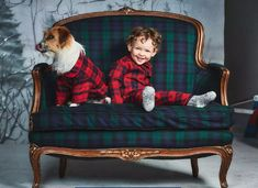 Shop The Family Dog Series at Janie and Jack. Matching looks for everyone's bestfriend. For cozy nights, wear matching pajamas. | Girls plaid dresses | Boy plaid suits | Dog plaid coats   #afflink