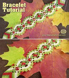 Macrame Autumn / Fall Bracelet Tutorial: http://youtu.be/bOU9DcNeQBA #Macrame…