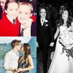 Tom Fletcher and Giovanna Falcone friends since the beginning. So precious! My couple model <3