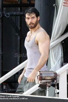 Washed his shirt the Logo-S disappeared.......Hot Men Sexy Gods  Henry Cavill... Man of Steel :D http://AFitBeachBody.com