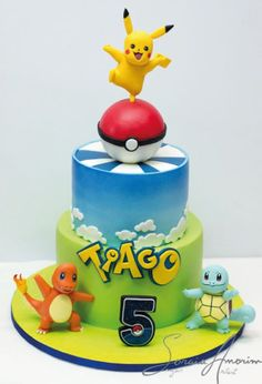 Planning a Pokemon theme party for your kid? This Pokemon theme birthday party will entice your kids no matter which age they are. Heres a list of cool ideas for your kinds pokemon theme party Pokemon Torte, Pokemon Go Cakes, Pokemon Pinata, Pokemon Pokemon, Bolo Pikachu, Pikachu Cake, Pokemon Themed Party, Pokemon Birthday Cake, Festa Pokemon Go