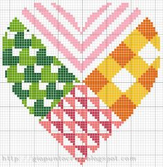 cross stitch quilted heart