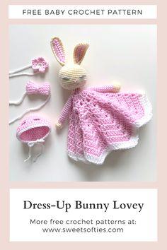 Crochet Security Blanket, Crochet Lovey, Crochet Bunny, Diy Crochet, Lovey Blanket, Crochet Things, Crochet Flowers, Crochet Toys Patterns, Amigurumi Patterns