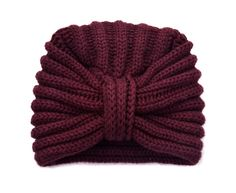 A super soft hand frame knitted 4 ply damson cashmere turban made in Scotland by Rosie Sugden, part of the luxury Scottish cashmere turban range All The Colors, Hand Knitting, Knitted Hats, Knitting Patterns, Cashmere, Fashion Accessories, Winter Hats, Burgundy, Beanie