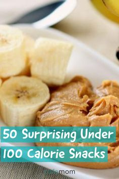 We rounded up 50 healthy, nutritionist-approved snacks under 100 calories to help keep you satisfied between meals. #food #healthy