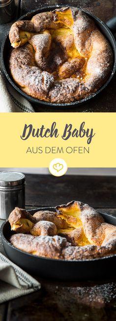 Breakfast for One: Himmlisch luftiger Pfannkuchen aus dem Ofen. Ohne viel Aufwand zauberst du ein traumhaftest Frühstück nur für dich allein!