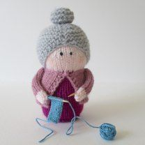 Granny is knitting a tiny scarf. She would make a lovely gift for Mother's Day or Grandmother's Day. Her glasses are made from jewellery wire, and her knitting needles are cocktail sticks. As these pieces can be sharp, Granny is not a toy suitable for young children, but she would be a sweet decorative piece.THE PATTERN INCLUDES: Row numbers for each step so you don't lose your place, instructions for making Granny, her spectacles and her little piece of knitting, 9 photos, a list of abbr...