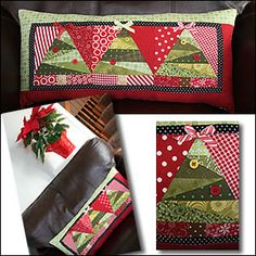 This would make a cute table runner, too, or a single pillow with just one tree.