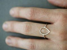 Simple Petal Ring. $44.00, via Etsy.