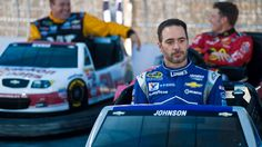 Happy 40th Birthday.  Jimmie Johnson and other Chase drivers went head-to-head on a custom bumper-car track on Thursday in Chicago.