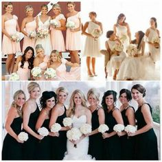 Asymmetrical Necklines..Planning a wedding??Click for tips on bridesmaids trends this year