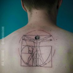 Vitruvian Man Tattoo Atwork Vitruvian Man by leonardo da...