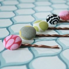 making your very own fabric covered bobby pins. Perfect for using up fabric scraps!