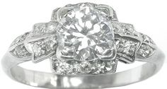 Old mine cut diamond engagement ring-1920's-love anything from the 1920's