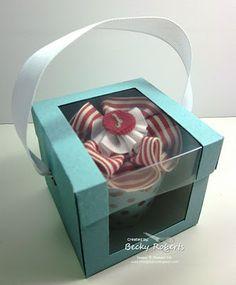 Individual Cupcake Box Tutorial  how to make the individual cupcake box.