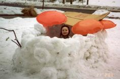 Loved building snow forts in the Kansas snow drifts