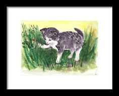 Buy Playful kitten 2 watercolors on paper Painting by Art by Aashaa on Artfinder. Discover thousands of other original paintings, prints, sculptures and photography from independent artists. Watercolor Paper, Watercolor Paintings, Lovers Art, Cat Lovers, Original Art, Original Paintings, A5, Impressionist, Cute Gifts