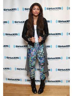 Zendaya Coleman Leather Pants - Zendaya Coleman Style - Seventeen