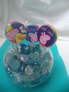 Peppa the Pig Birthday Party Lollipops/Suckers - Perfect for favors, cupcake toppers, etc. - You choose the theme