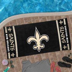 New Orleans Saints Design Beach Towel - Black