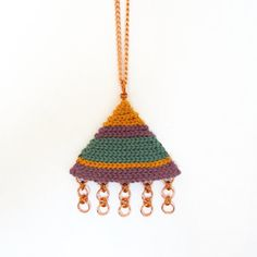 Geometric set necklace plus earrings,fiber necklace,cotton necklace,boho necklace,tribal necklace,tribal earrings,green,purple,vegan  ***THIS