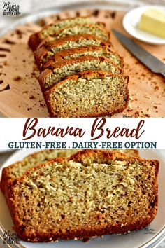 Easy Gluten-Free Banana Bread {Dairy-Free Option} The only gluten-free banana bread recipe you'll ever need; a one bowl wonder! No mixer required for this super moist easy gluten-free banana bread. Banana Bread Gf, Dairy Free Banana Bread, Banana Bread Recipes, Gluten Free Sweets, Gluten Free Chocolate, Gluten Free Baking, Dairy Free Options, Dairy Free Recipes, Gluten Free Bread Bowl Recipe