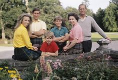 Family photo: (L-R) Princess Anne, the Prince of Wales, the Earl of Wessex, the Duke of York, the Queen and the Duke of Edinburgh on holiday at Balmoral in 1972