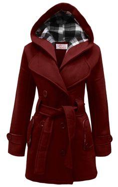 Mymixtrendz- Womens Warm Fleece Hooded Jacket with Belt  in  size UK 10/US 6
