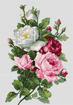 Cross Stitch Kits - Flowers