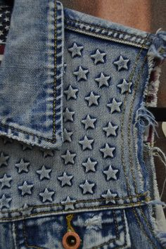 We fell in love with this star embossed denim vest at the projectshow365 trade show today by White Crow whitecrowbrand