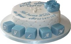 With love on your christening dsay - cake for boy - Google Search