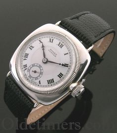 An early silver cushion vintage Rolex Oyster watch, 1928 . - Click for more info...