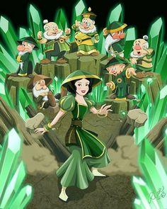 Disney Princess Avatar: Earth Bender Snow White - disney-princess Photo