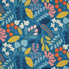 #floral #textiles #surfacedesign #dspattern #dsblues